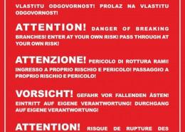 Ploča upozorenja na Brsaljama