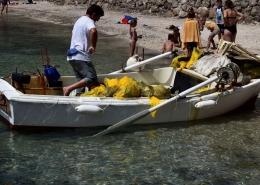 Prikupljeni otpad nakon ronjenja