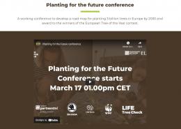 Najava konferencije Planting for the Future